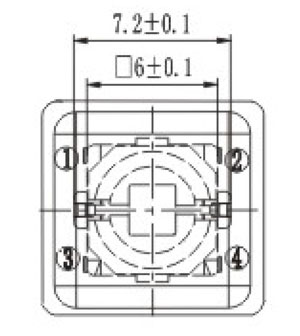 Illuminated Tactile Switches R2590/91 Structure Diagram