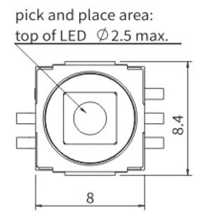 Illuminated Tactile Switches R2990L Structure Diagram