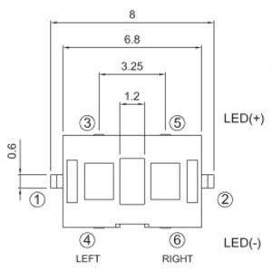 Illuminated Tactile Switches R2998 Structure Diagram
