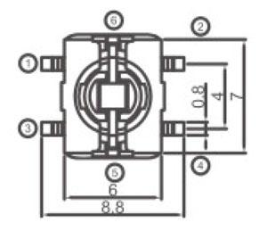 防水带灯轻触开关R2998L结构图