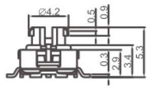 Waterproof Switch R2998L Structure Diagram
