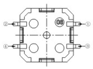 Dust-proof Tactile Switches Structure Diagram RTR-85/12