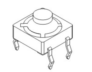 轻触开关RTR-8结构图