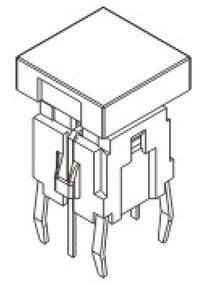 Illuminated Tactile Switches R590B Structure Diagram