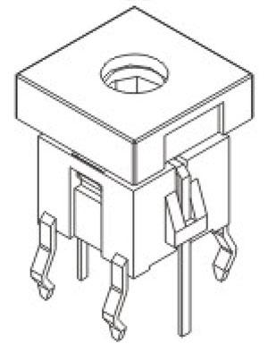 带灯轻触开关R592/R592B结构图