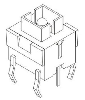 带灯轻触开关R593结构图