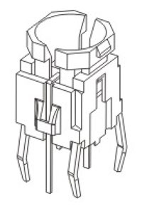 Illuminated Tactile Switches R596B Structure Diagram