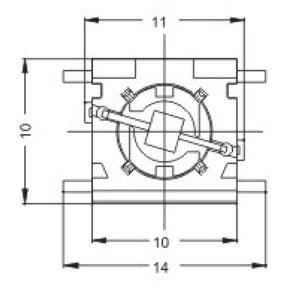 Illuminated Tactile Switches R2091 Structure Diagram