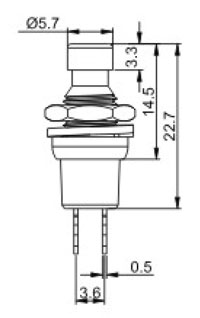Push_Button Switches R0191 Structure Diagram