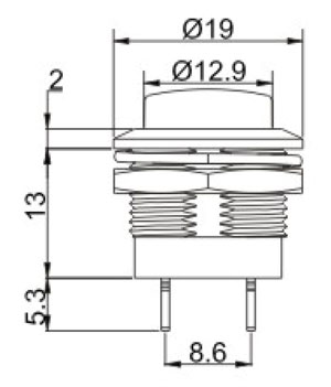 Push_Button Switches R0197 Structure Diagram