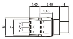 Ultra Low Profile Tactile Switches R2995A Structure Diagram
