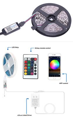 蓝牙手机APP+红外遥控器灯带控方案